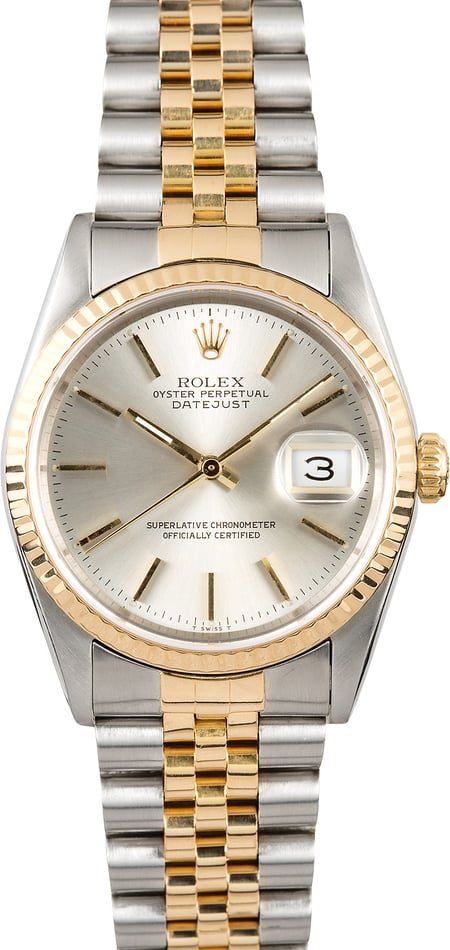 Rolex Datejust 36MM Silver Dial 16233