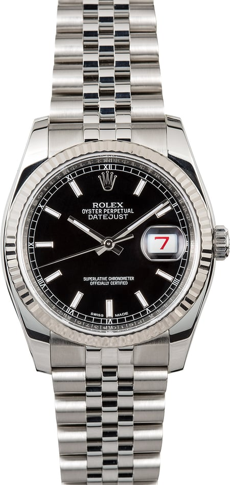Rolex Datejust Black 116234 Luminous