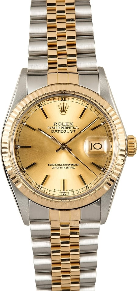 Rolex Datejust Champagne 16013 Certified Pre-Owned