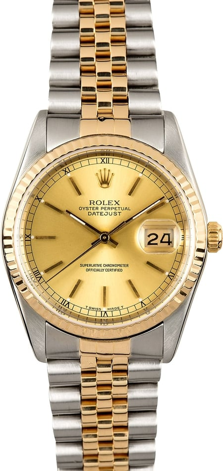 Rolex Datejust Champagne 16233 100% Authentic
