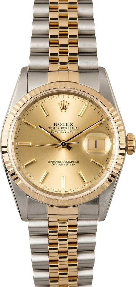 Rolex Datejust Champagne 16233 Certified Pre-Owned