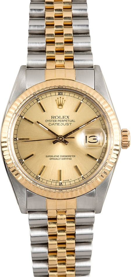 Rolex Datejust Champagne Dial 16013
