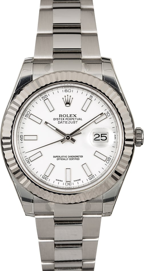 Rolex Datejust II White Luminescent Dial 116334