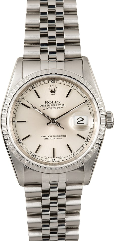 Rolex Datejust Stainless 16220 Jubilee