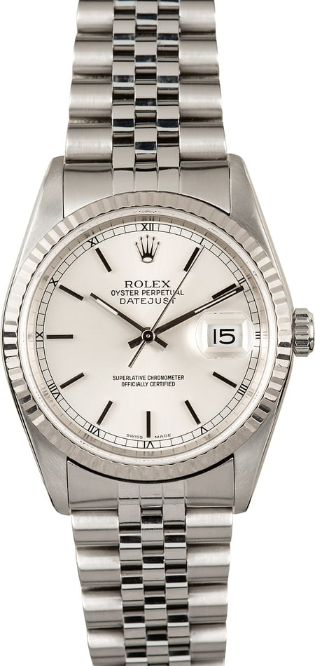Rolex Datejust Stainless Steel 16234 Certified Pre-Owned