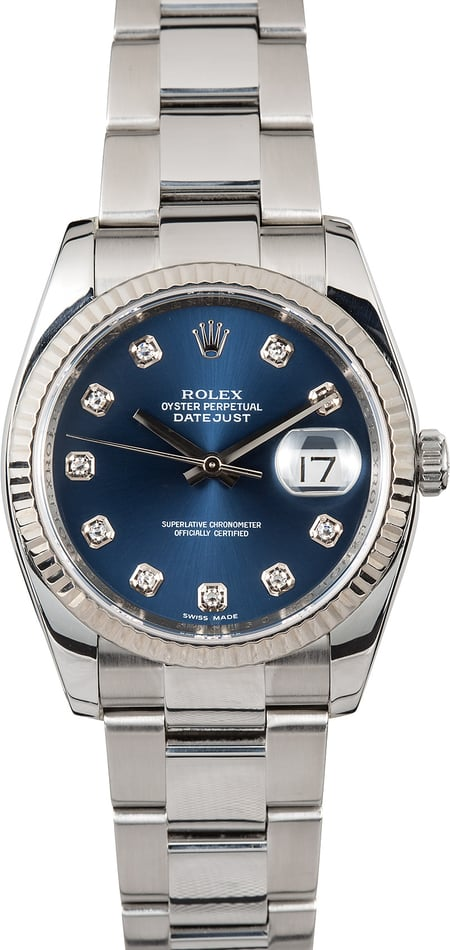 Rolex Datejust Steel 116234 Diamond Dial
