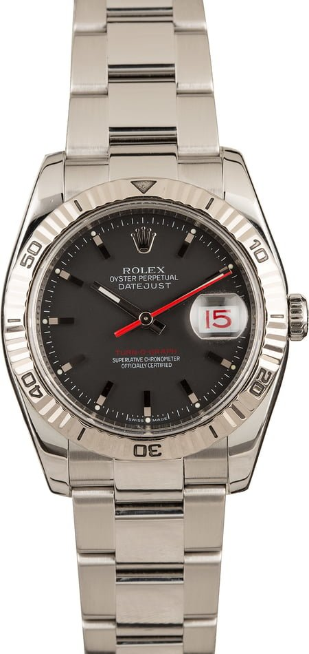 Rolex Datejust Turn-O-Graph 116264 Red Date Wheel