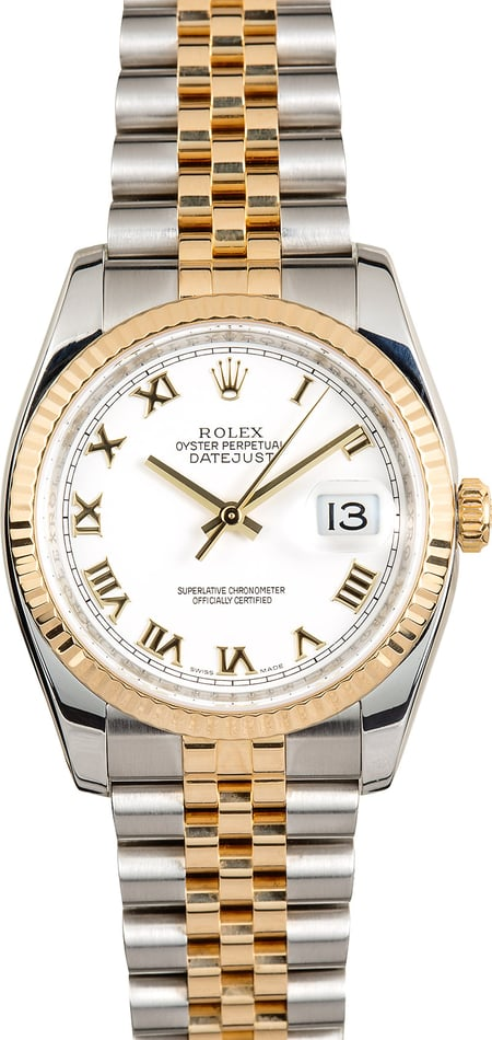 Rolex Datejust Two-Tone 116233 Roman