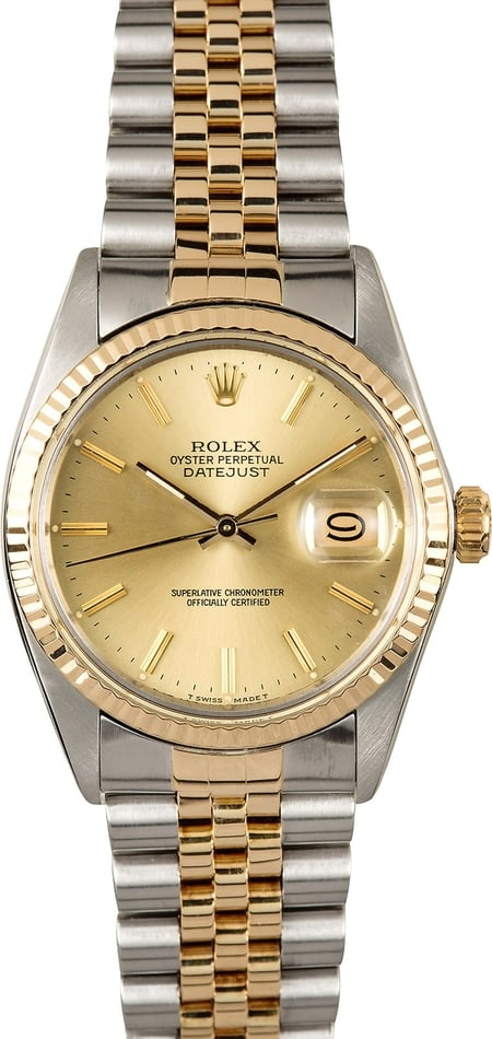 Rolex Datejust Two-Tone 16013 100% Authentic