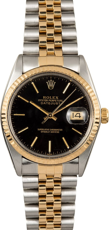 Rolex Datejust Two-Tone 16013 Black Dial