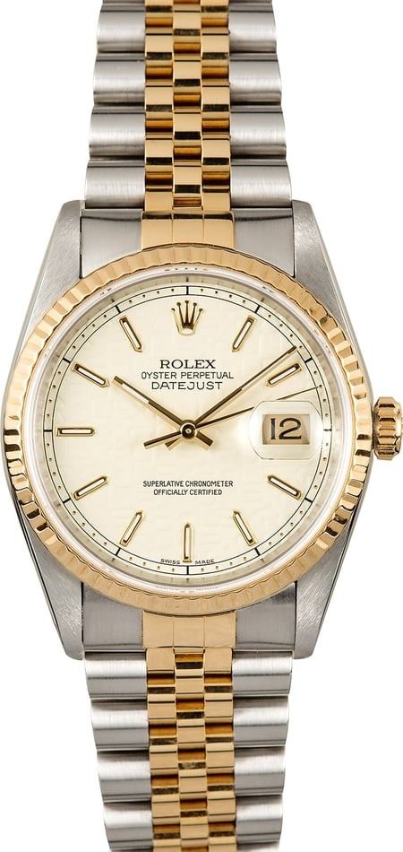 Rolex Datejust Two Tone 16233 Certified Pre-Owned