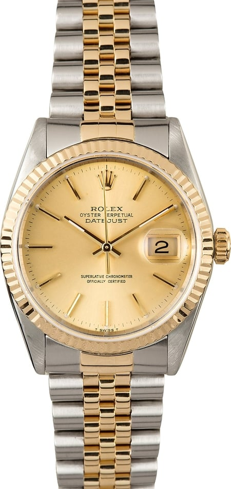 Rolex Datejust Two Tone 16233 Champage 100% Authentic
