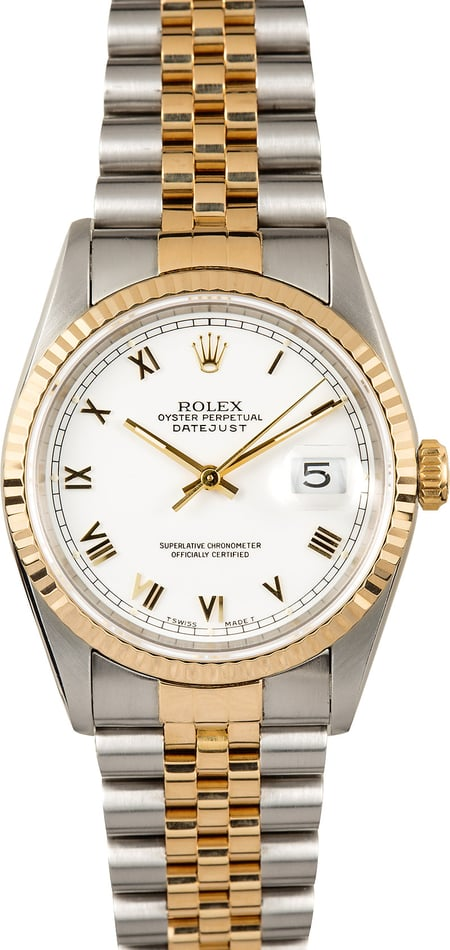 Rolex Datejust White Roman 16233 Certified Pre-Owned