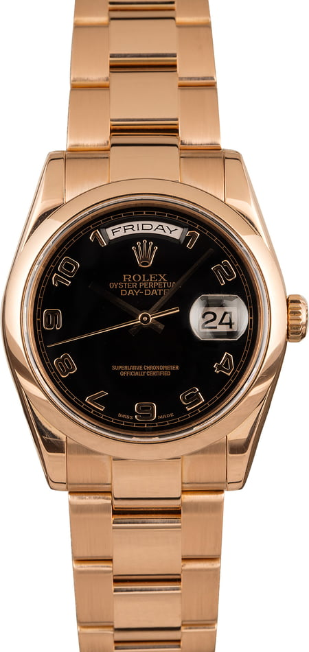 Pre-Owned Rolex President 118205 Everose Oyster