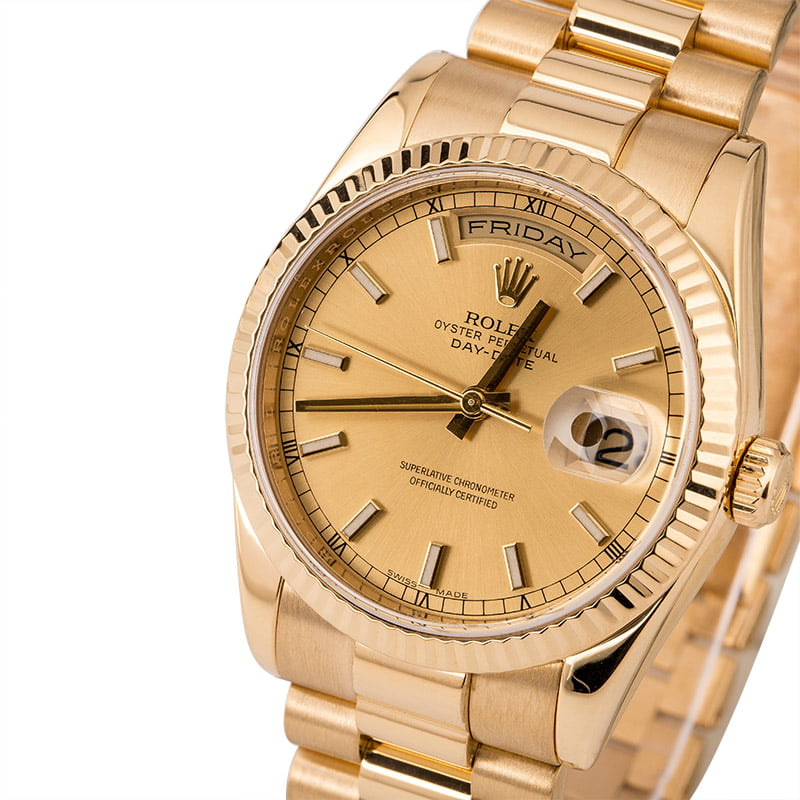 the latest 7d1a6 ce540 PreOwned Rolex President 118238 Yellow Gold