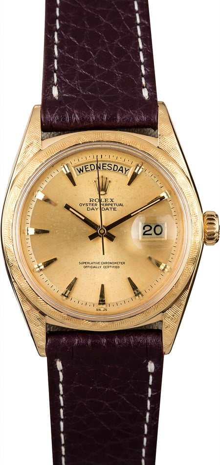 Vintage Rolex Day-Date 1806 'Pie Pan' Champagne Dial