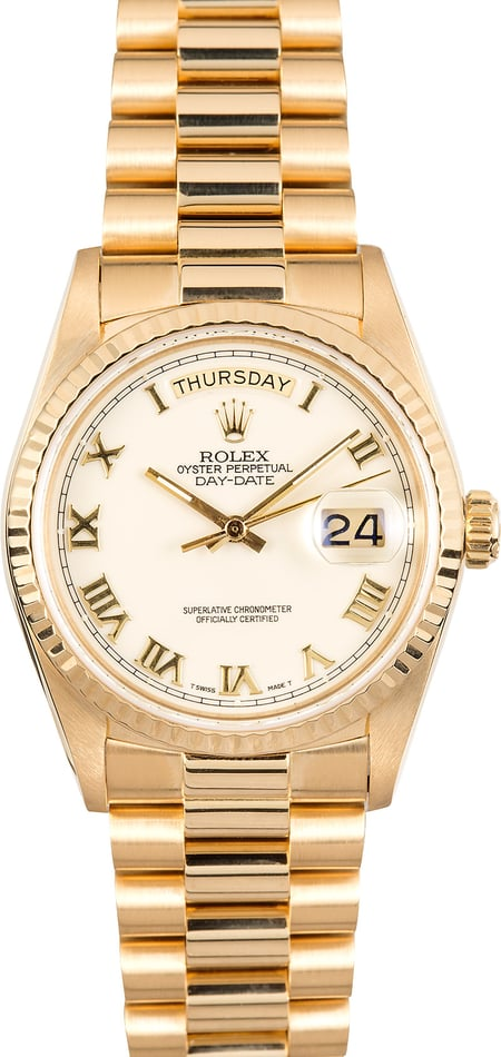 Rolex Day-Date President 18038 Roman Dial