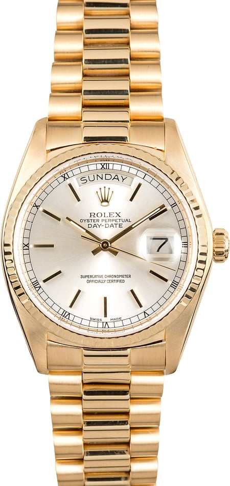 Rolex Day-Date Presidential 18038 Silver Dial