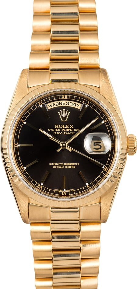 Rolex Day-Date Presidential 18238 Black Dial
