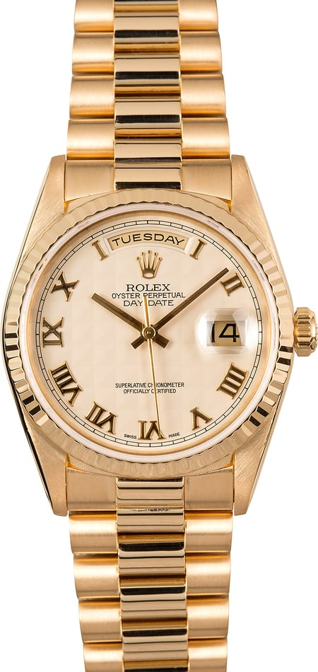 Rolex Day-Date Presidential 18238 Pyramid Dial