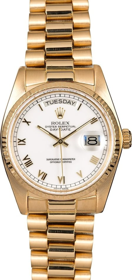 Men's Rolex Day-Date Presidential 18038 White