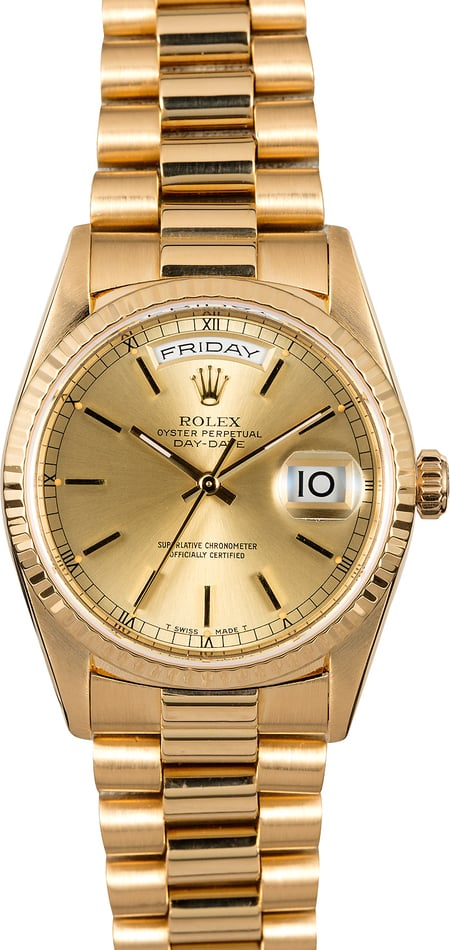 Rolex President 18238 Day-Date 18k Yellow Gold