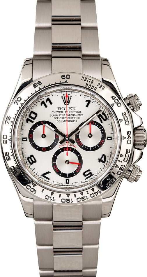 Rolex Daytona 116509 Silver Dial White Gold Oyster