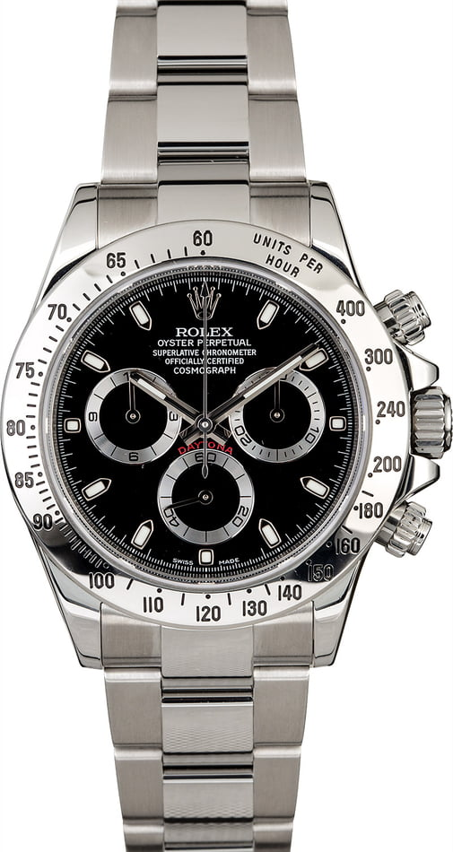 Black Dial Rolex Daytona 116520 Serial Engraved