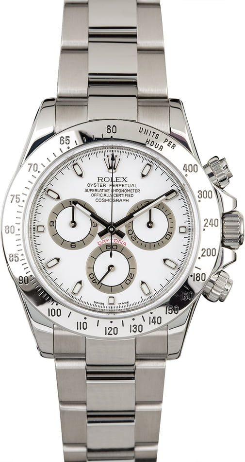 Rolex Daytona 116520 White Dial with Steel Oyster