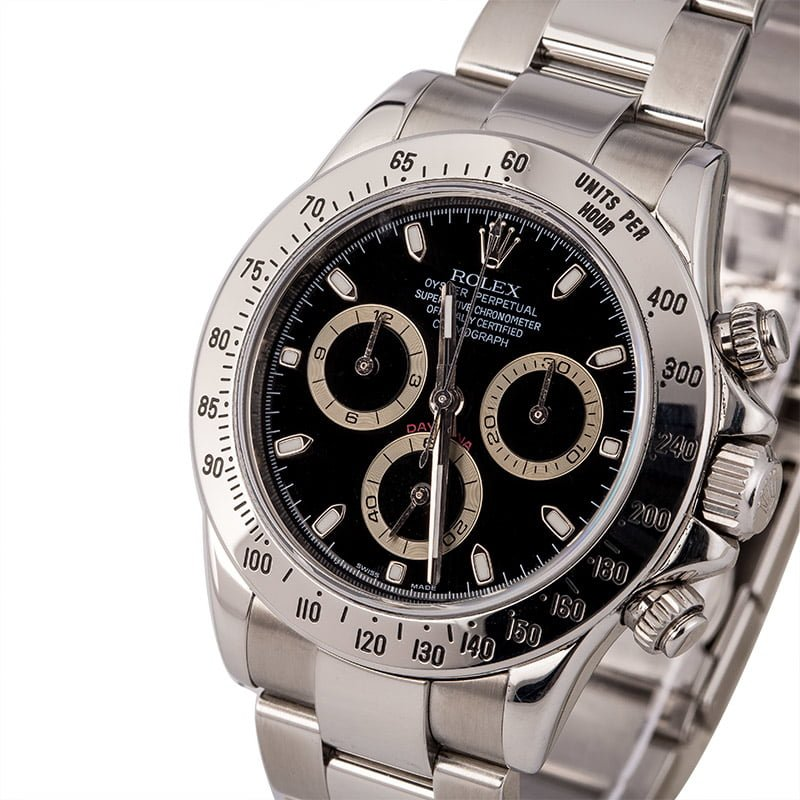 Rolex Daytona 116520 Black Dial, Serial Engraved Rolex Box, Circa 2008