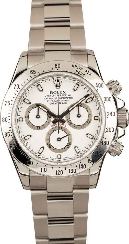 Pre-Owned White Dial Rolex Daytona 116520