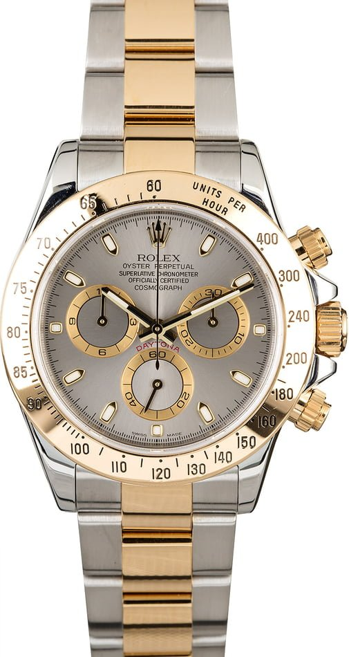 Rolex Daytona 116523 Slate Dial Two Tone Oyster
