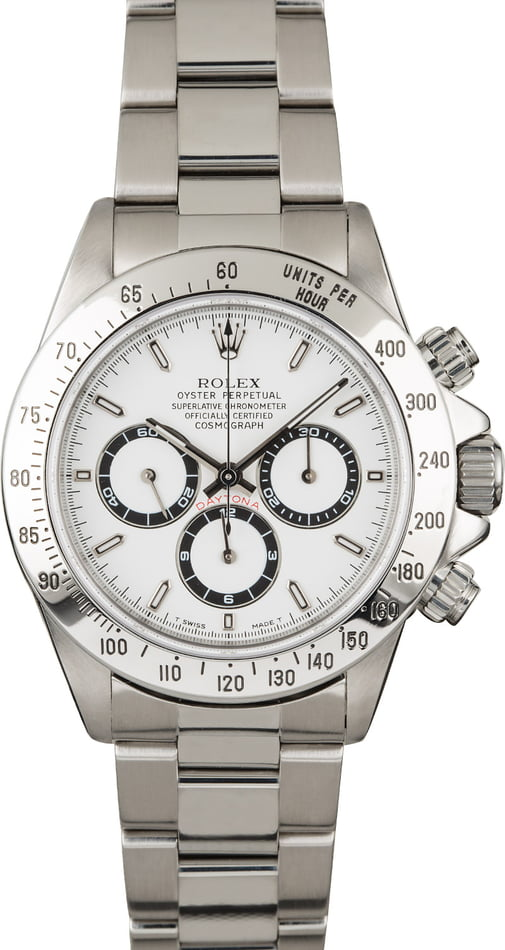 Rolex Daytona 16520 Zenith Movement with White Dial