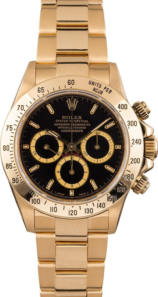 Rolex Daytona Yellow Gold Zenith 16528