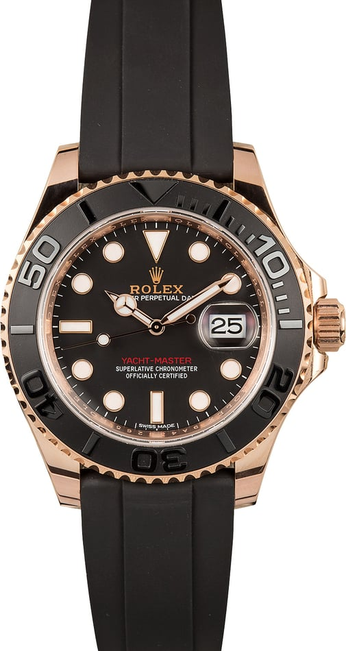 Rolex Everose Yachtmaster 116655 Rubber Strap