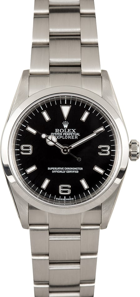 Rolex Explorer I 114270 Steel 100% Authentic