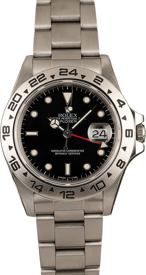 Pre-Owned Rolex Explorer 16550 Black Dial
