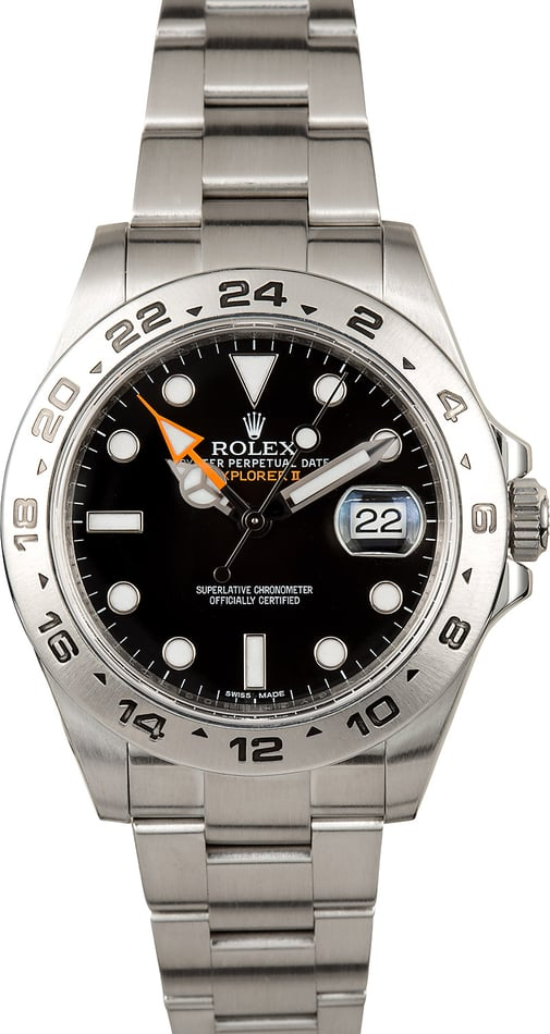 Rolex 42MM Explorer 2 Black 216570