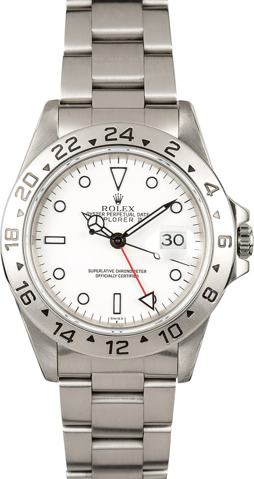 Rolex Explorer 2 White Dial 16570 Pre-Owned