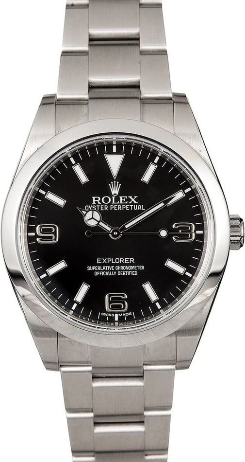 Certified Pre-Owned Rolex Explorer 214270 Arabic Markers