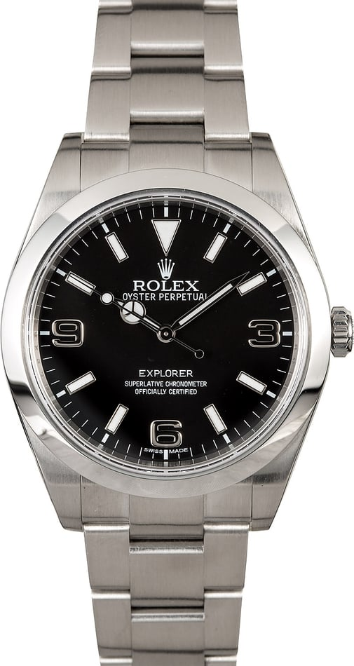 Certified Rolex Explorer 214270 Stainless Steel