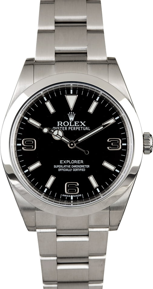 Men's Certified Rolex Explorer 214270 Stainless Steel