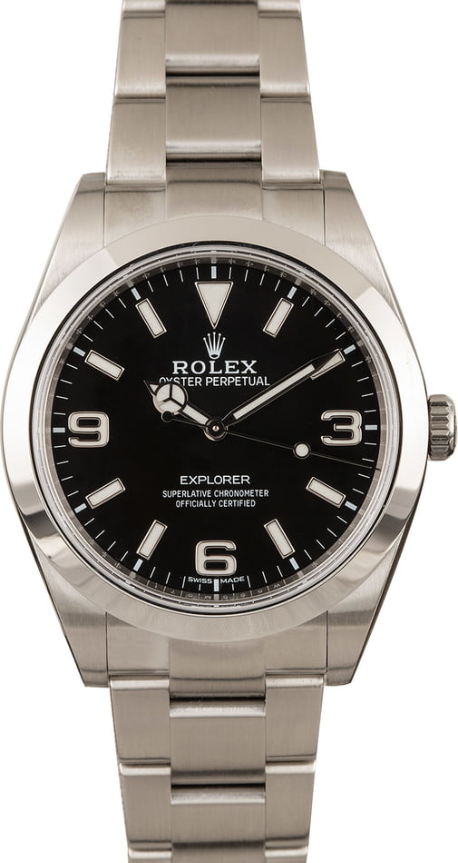 Pre-Owned Rolex Explorer 214270 Mark II Luminous Dial 39MM T