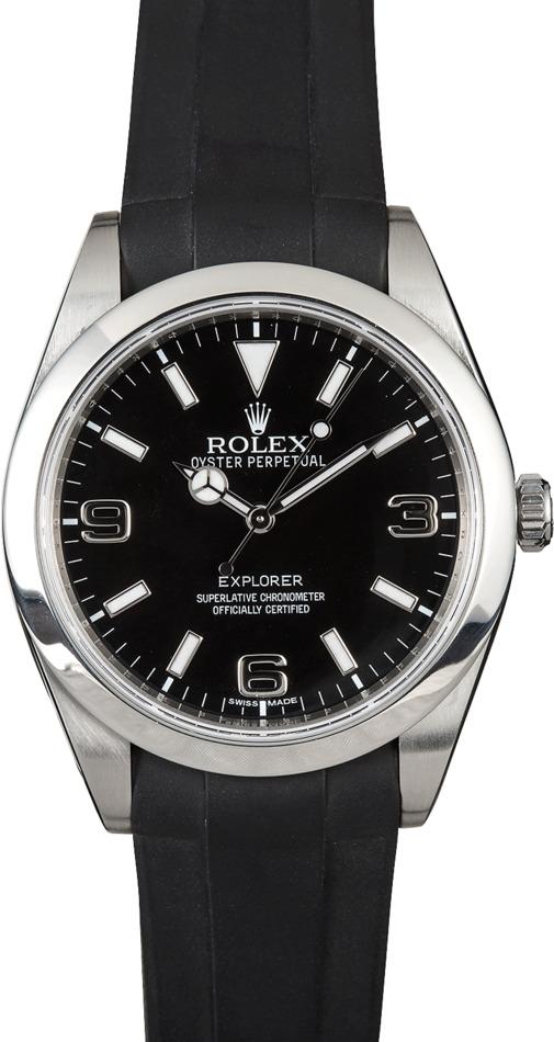 Rolex Explorer 214270 Rubber Strap