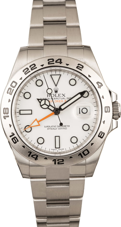 PreOwned Rolex Explorer II White Dial Oyster Bracelet