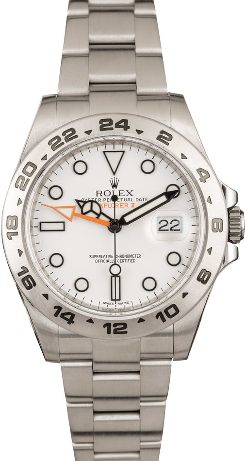 Pre-Owned Rolex Explorer II Ref 216570 White 'Polar' Dial 42MM