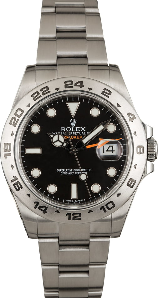 Rolex Explorer II Ref 216570 Stainless Steel with Black Dial