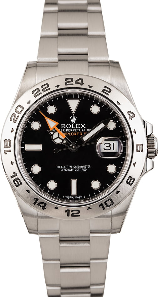 Pre Owned Rolex Explorer II Ref 216570 Steel