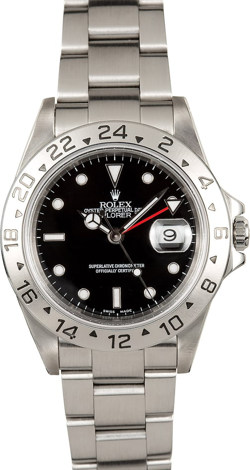 Rolex Explorer II 16570 Black Dial Watch