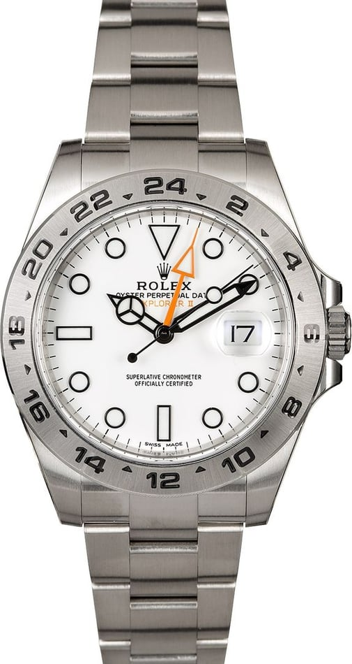 Men's Rolex Explorer II 216570 Factory Stickers